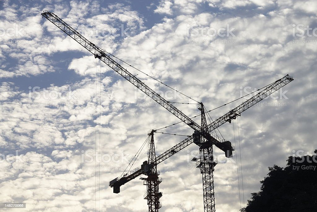 tower cranes royalty-free stock photo