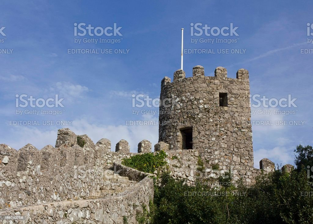 Tower Detail Inside The Castle Of The Moors Stock Photo