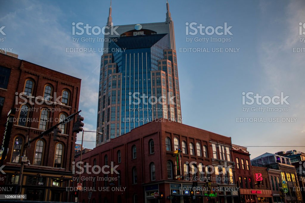 AT&T Tower Downtown nashville , TN 03/30/2018 stock photo