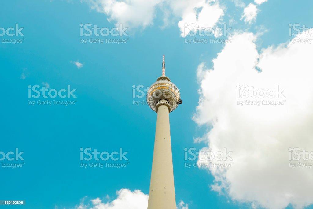 TV Tower - Fernsehturm - in Berlin, Germany. stock photo