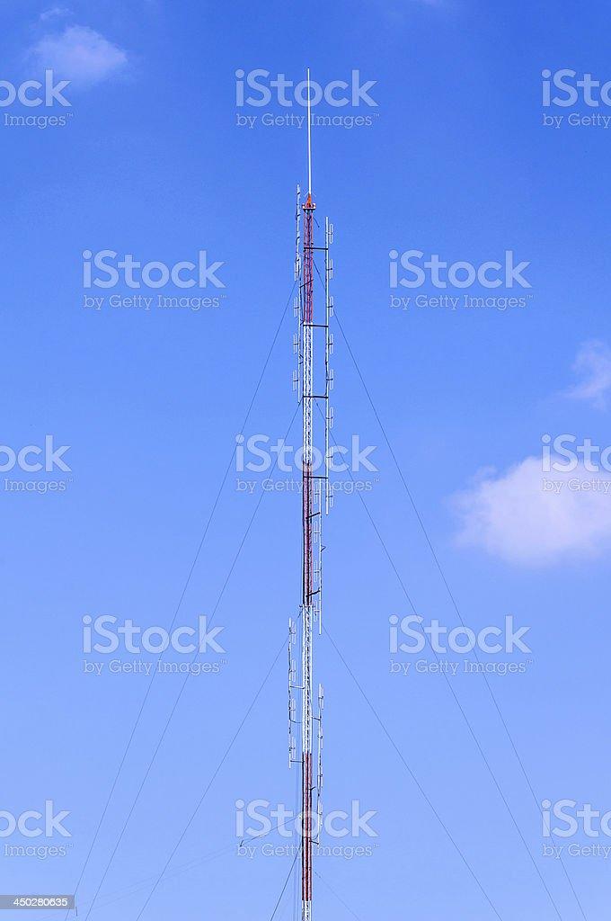 Tower for radio antenna stock photo
