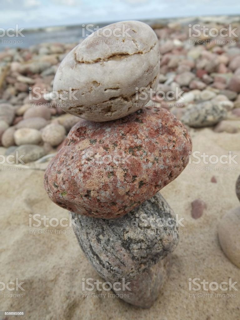 Tower from three stones stock photo