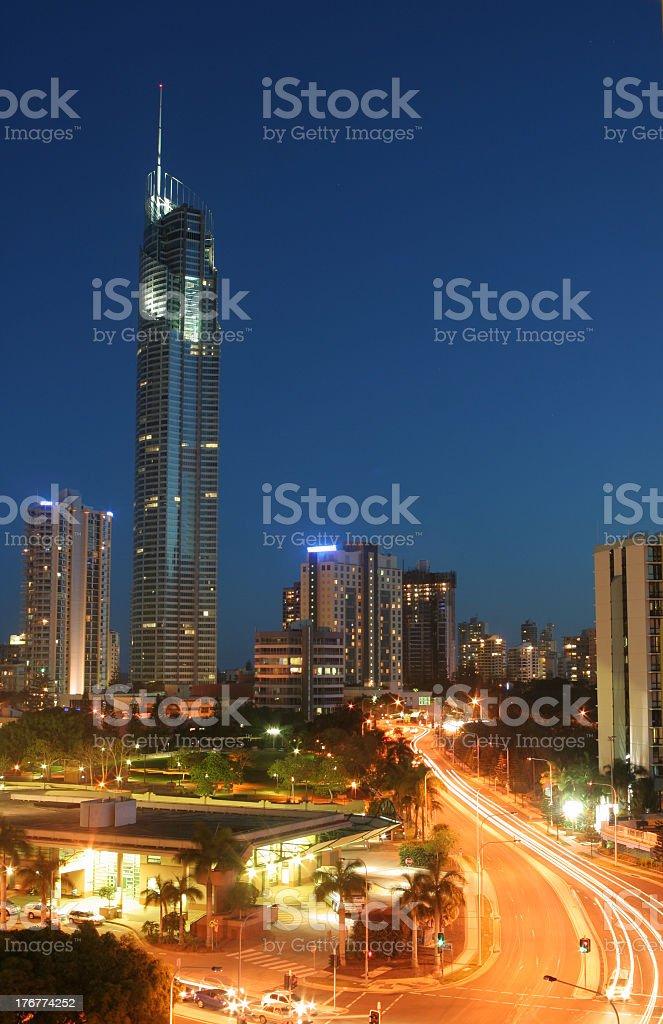Q1 Tower, Gold Coast royalty-free stock photo