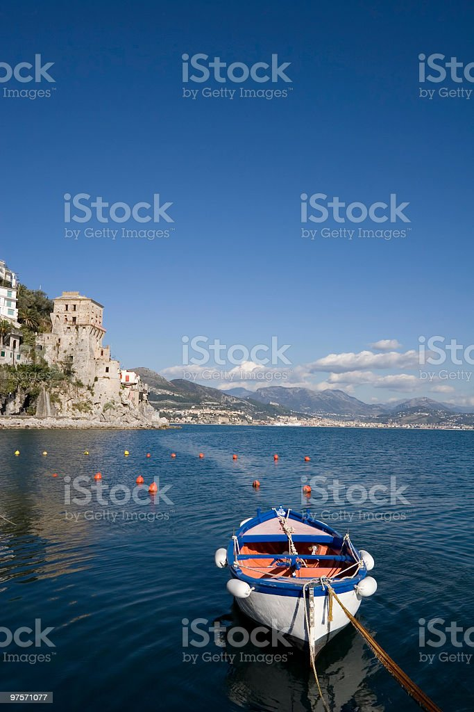 Tower guard of Cetara (little town in Amalfi coast,Italy) royalty-free stock photo