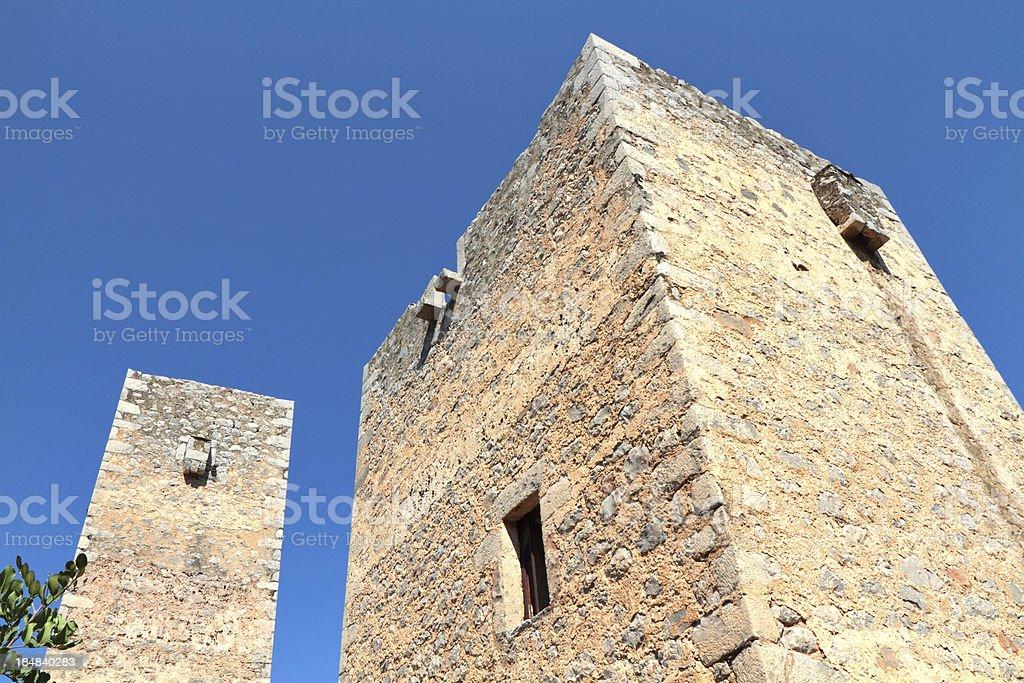 Tower Houses, Kita Village, The Mani Region, Peloponnese, Greece stock photo