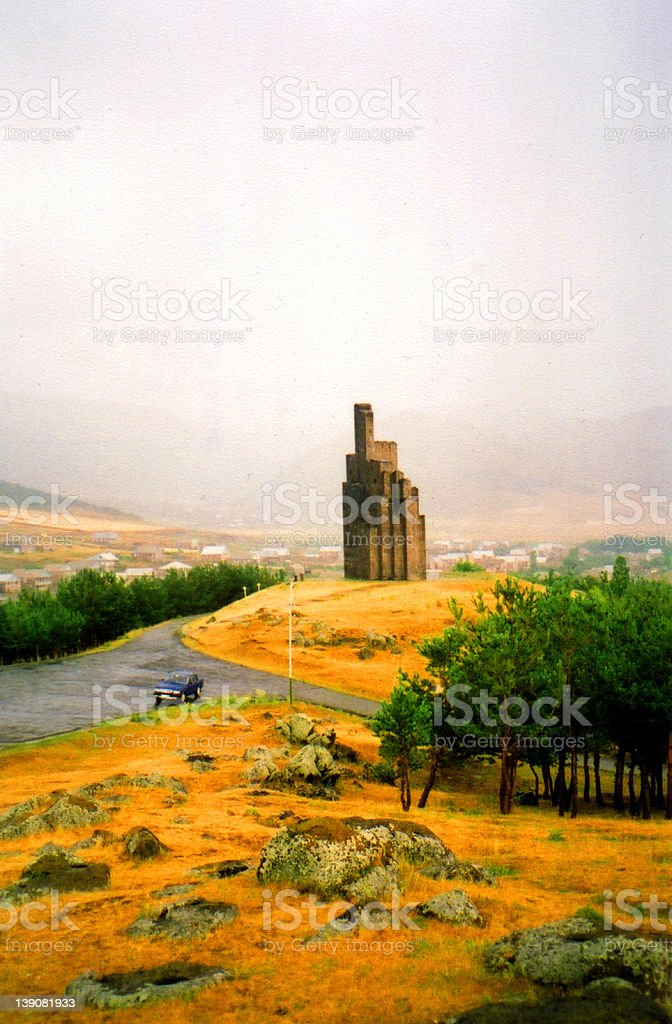Tower in Armenia royalty-free stock photo