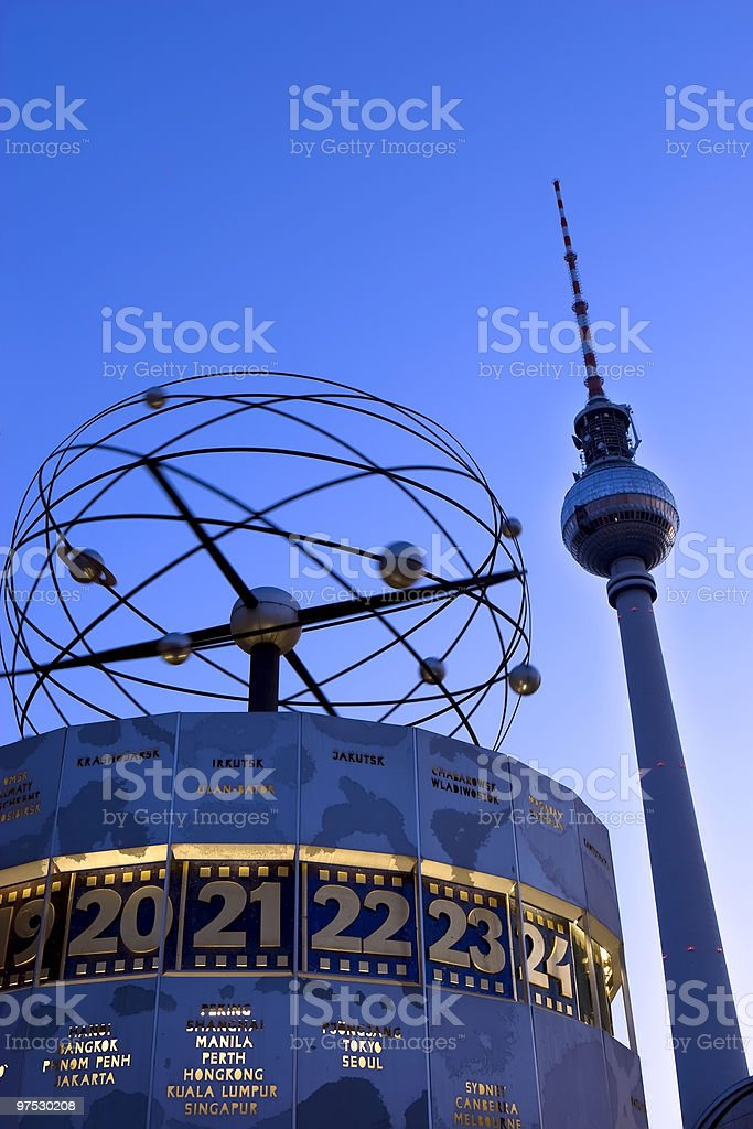TV-Tower in Berlin royalty-free stock photo