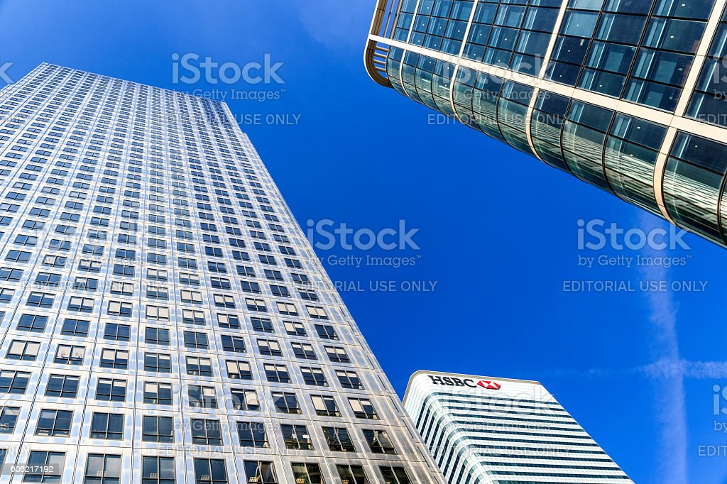 Hsbc Tower In Canary Wharf Stock Photo - Download Image Now - iStock