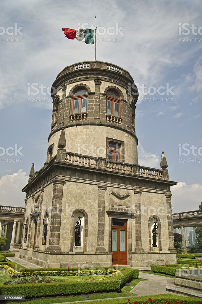 Tower in Chapultapec castle royalty-free stock photo