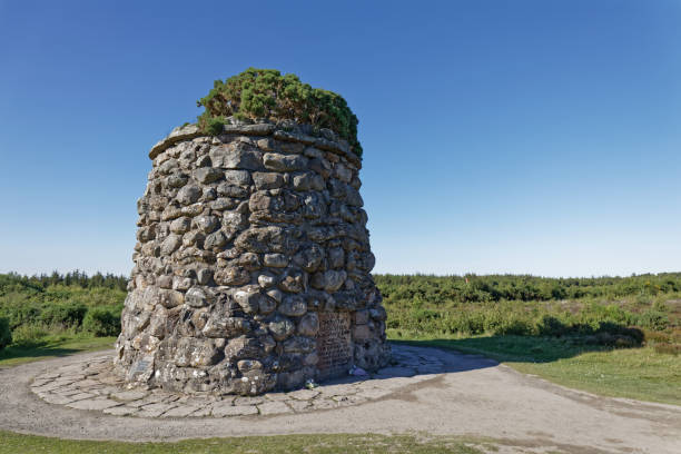 Tower in Culloden battlefield - Inverness, Scotland, UK Tower in Culloden battlefield - Inverness, Scotland, UK culloden stock pictures, royalty-free photos & images