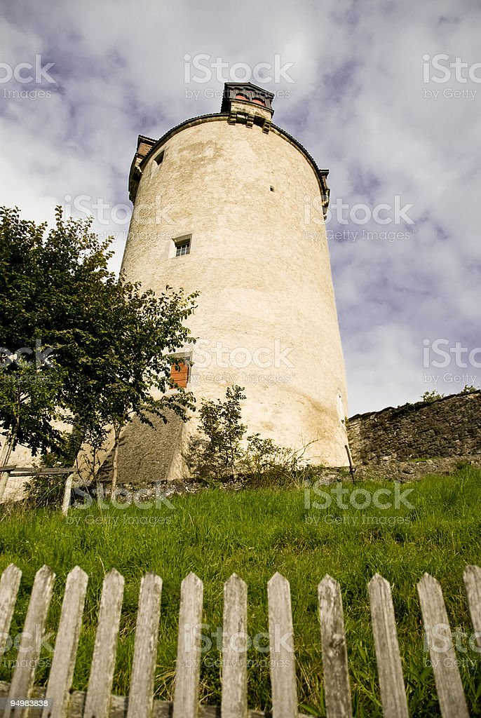 Tower in Gruyeres royalty-free stock photo