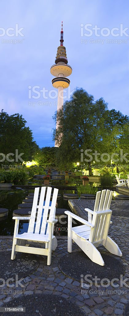TV Tower in Hamburg stock photo