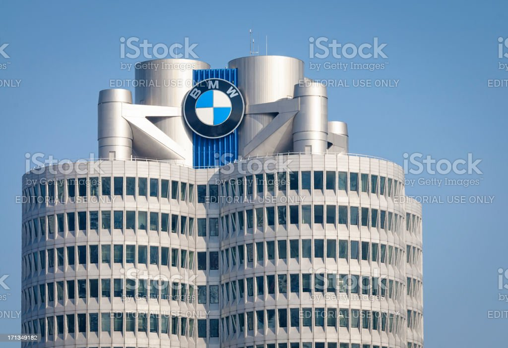 BMW Tower in Munich stock photo