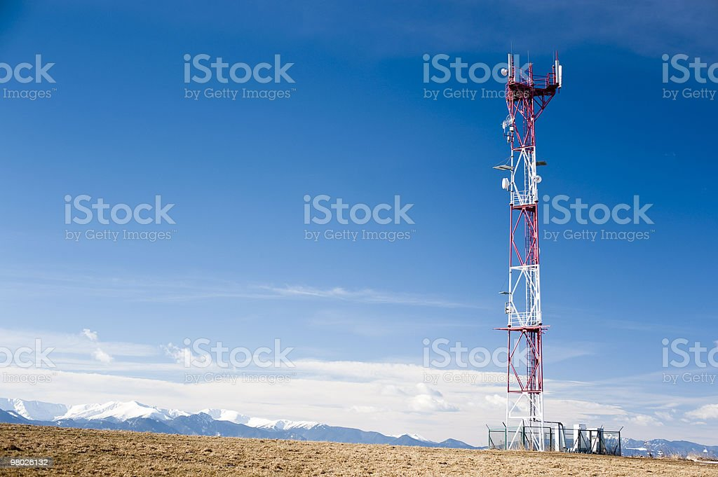 GSM tower in sunny day royalty-free stock photo
