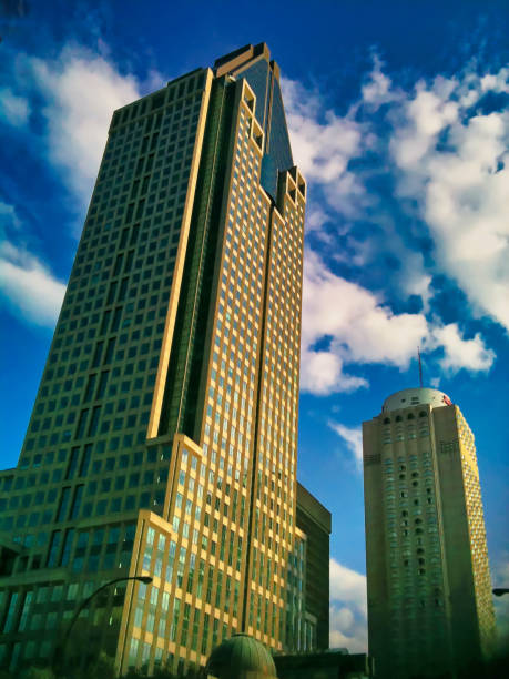 A tower in the greater Montreal. stock photo