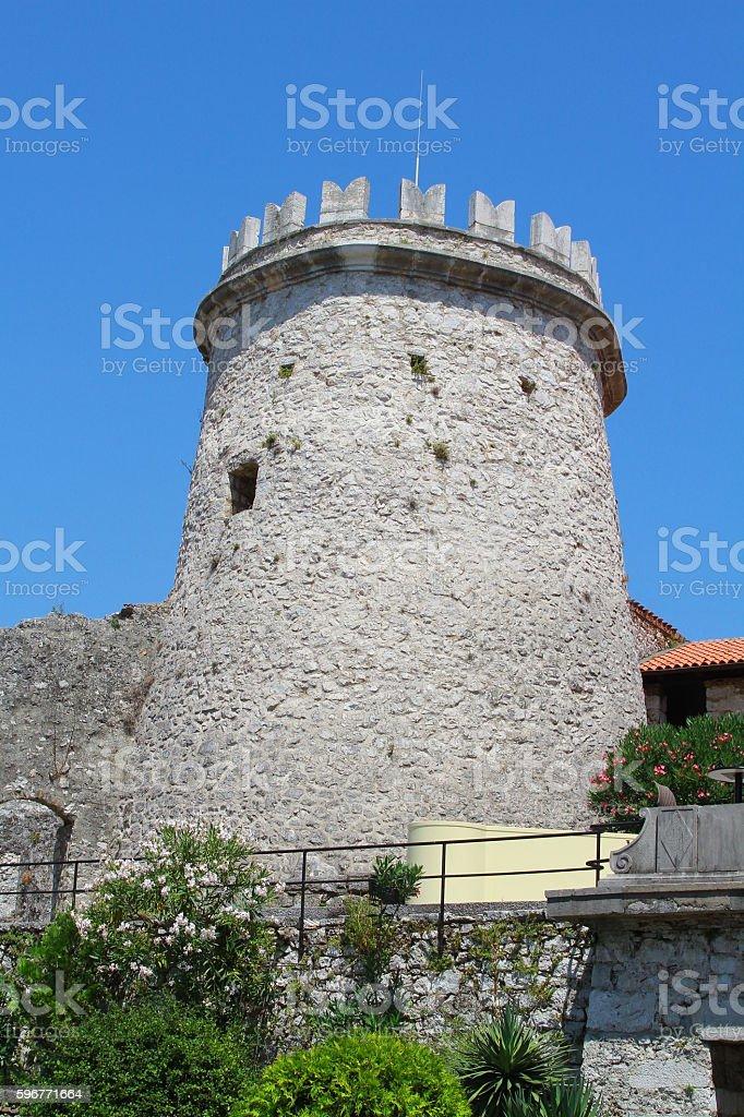 tower in trsat part of Rijeka stock photo