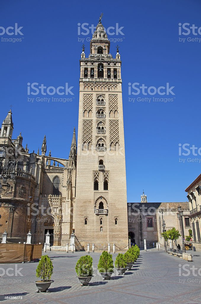 Tower La Giralda of Cathedral in Seville, Spain. royalty-free stock photo