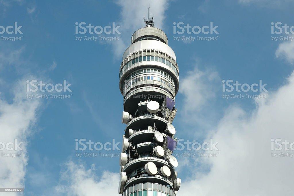 BT Tower, London in sunshine stock photo