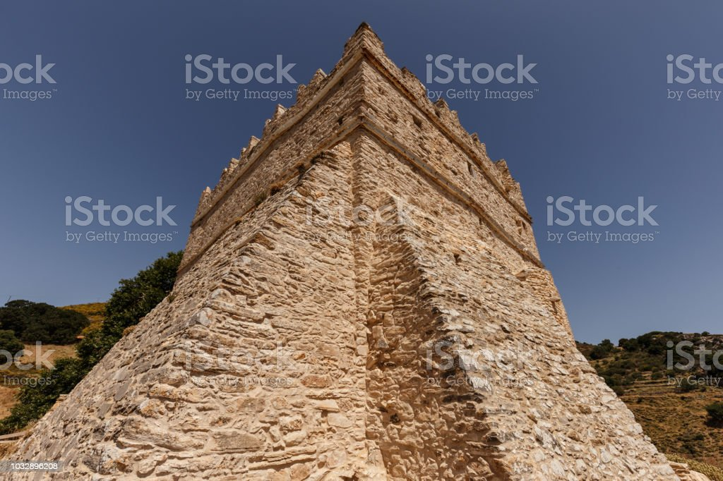 Tower Monastery stock photo