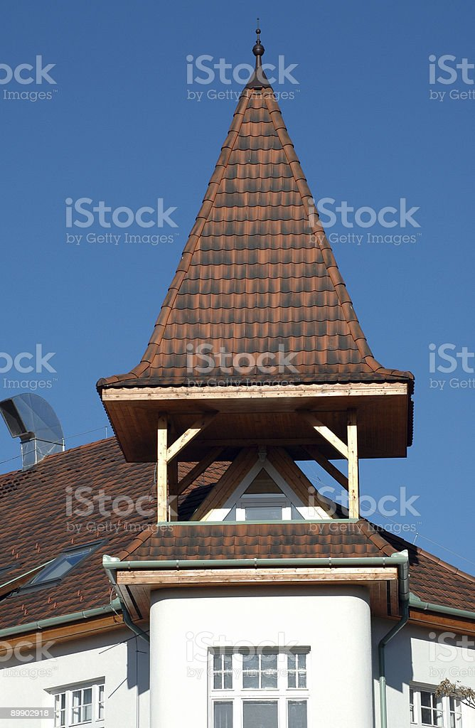 Tower of a building royalty-free stock photo