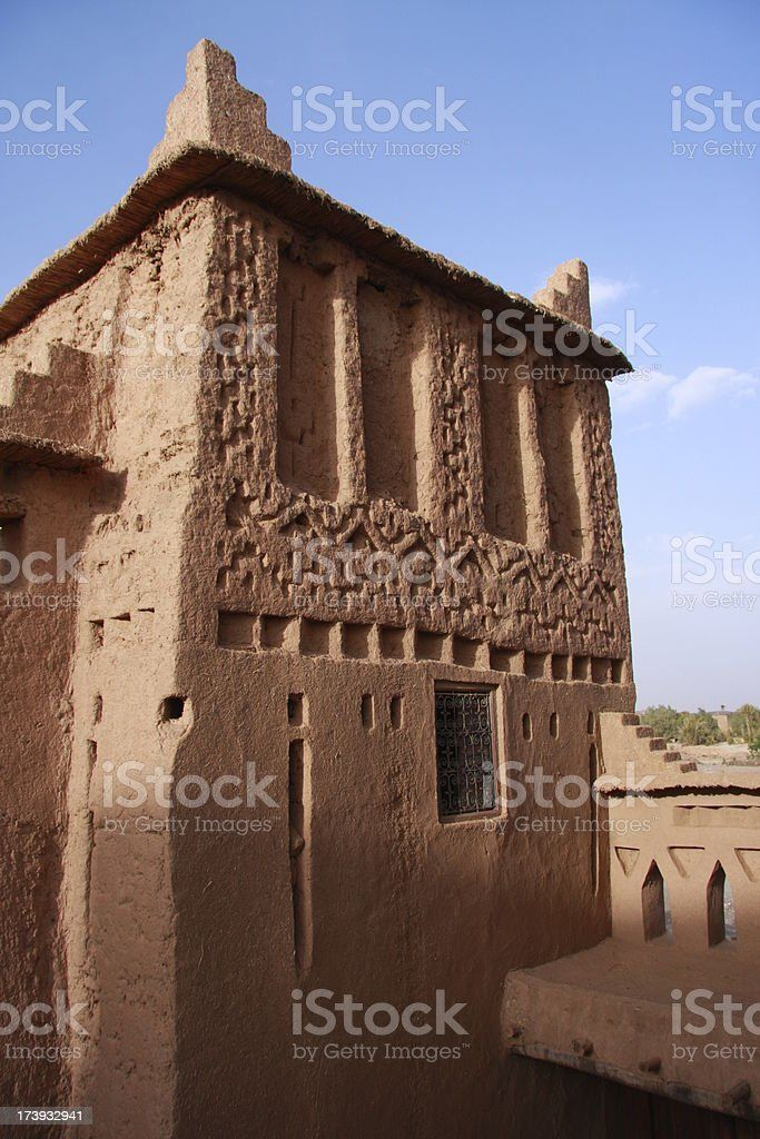 tower of a Kasba royalty-free stock photo