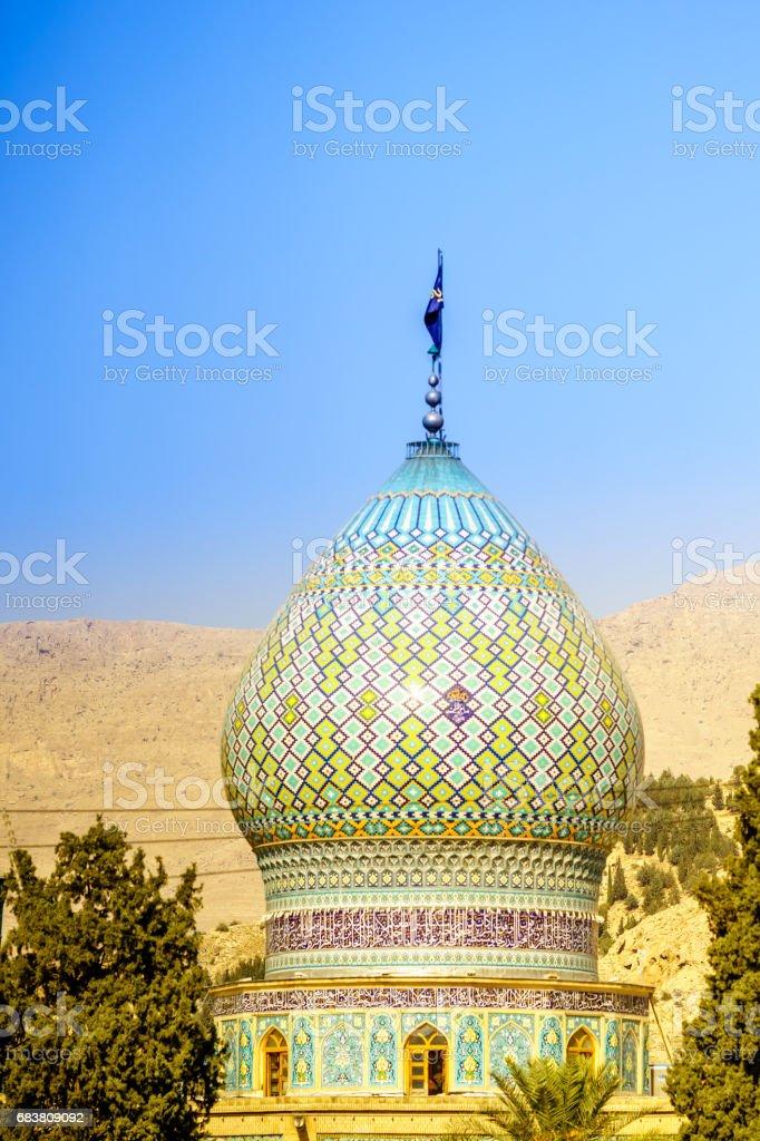 Tower of Ali Ibn Hamzeh Holly Shrine in Shiraz, Iran stock photo
