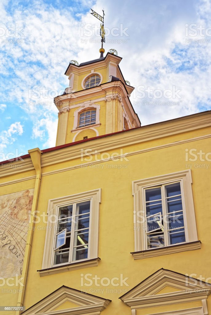 Tower of Astronomical Observatory at Vilnius University stock photo