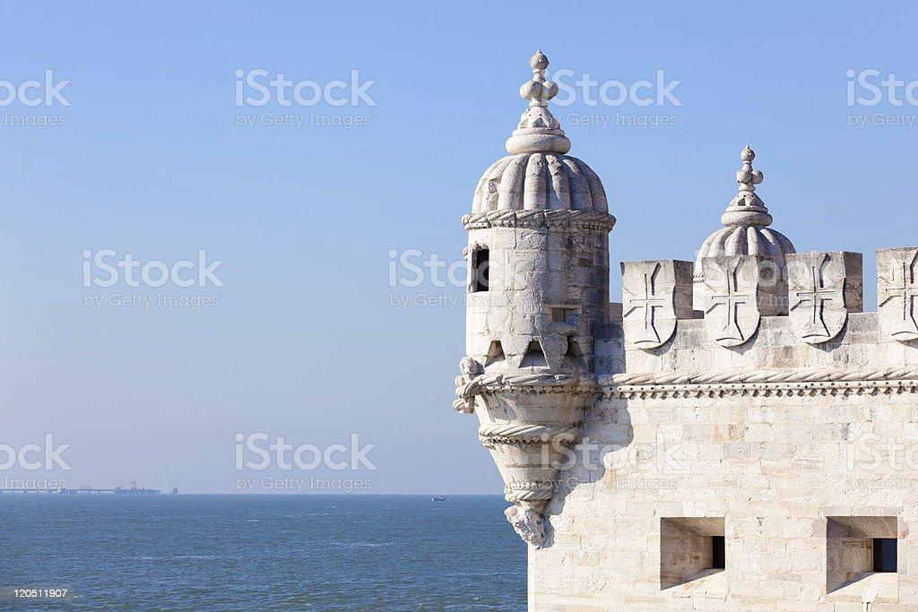 Tower of Belem (Torre de Belém) in Lisbon, Portugal stock photo