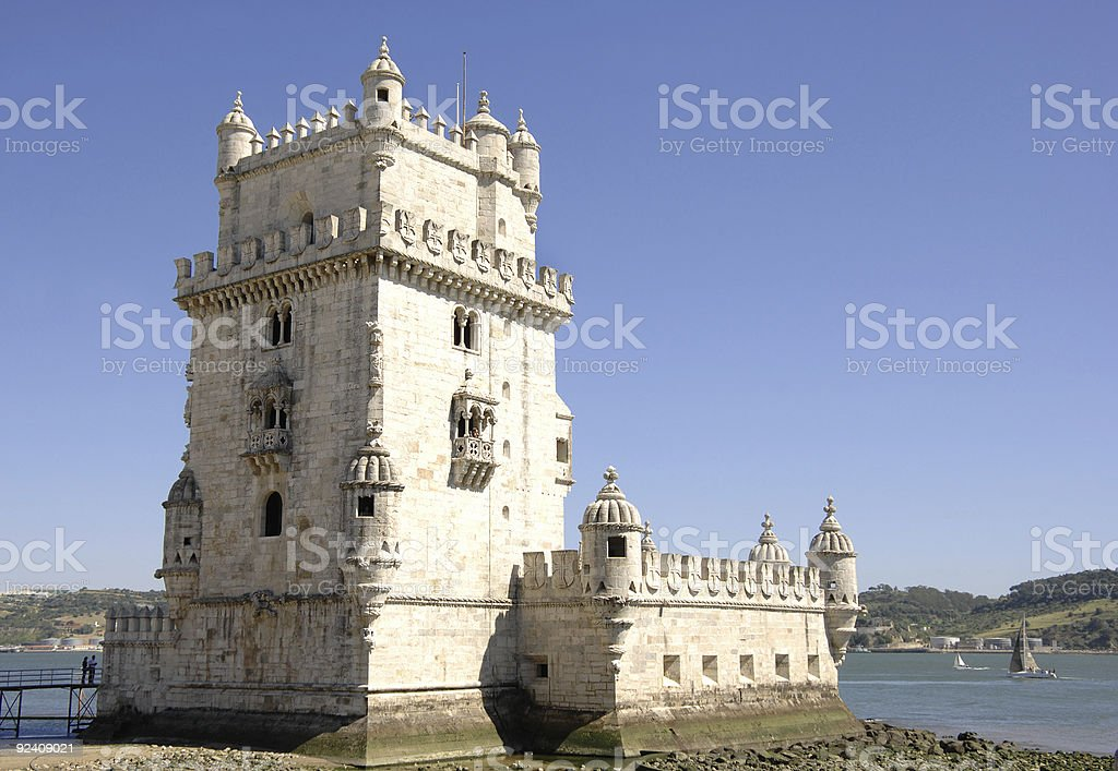 Tower of Belem in Portugal royalty-free stock photo