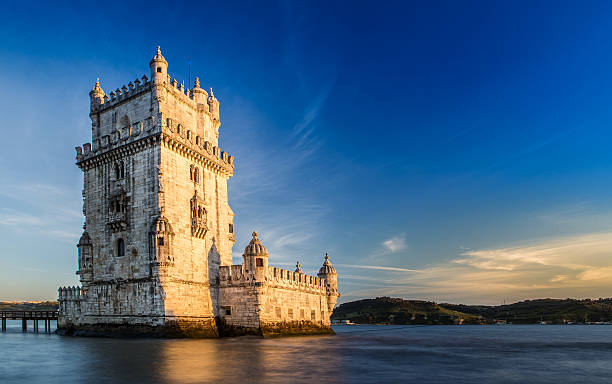 tower of belem, lisbon - portugal stock photos and pictures