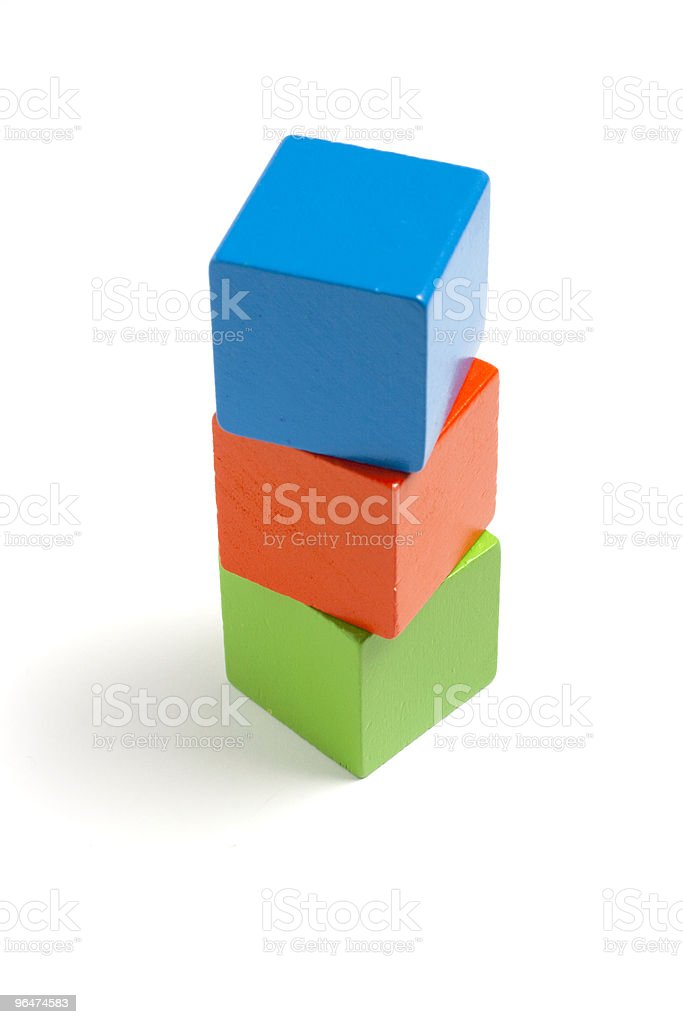 Tower of blocks royalty-free stock photo