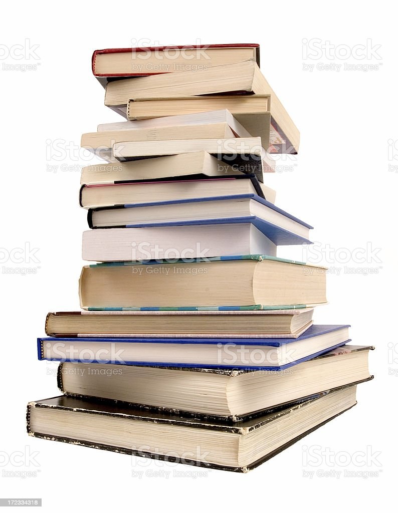 Tower of books stock photo
