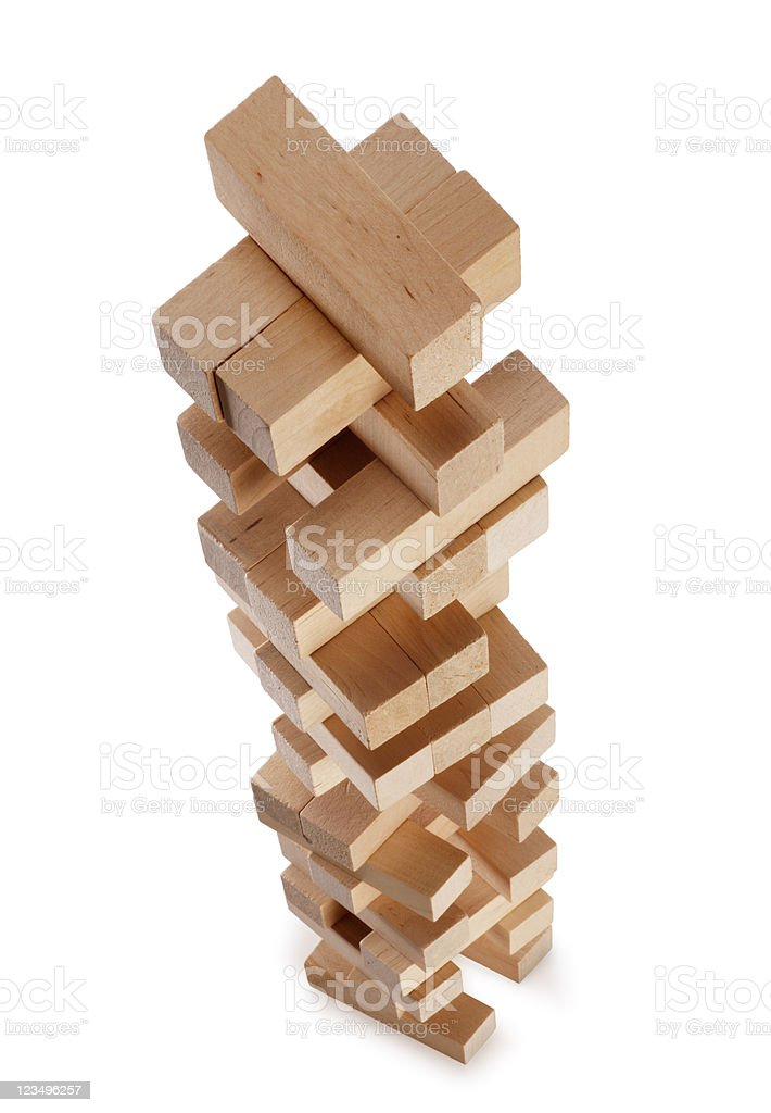 tower of building blocks royalty-free stock photo