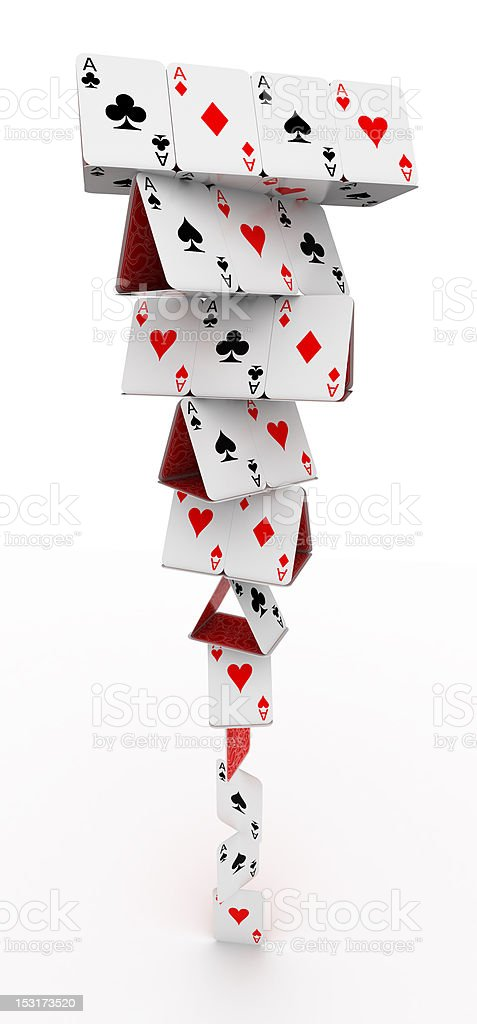 Tower of cards stock photo