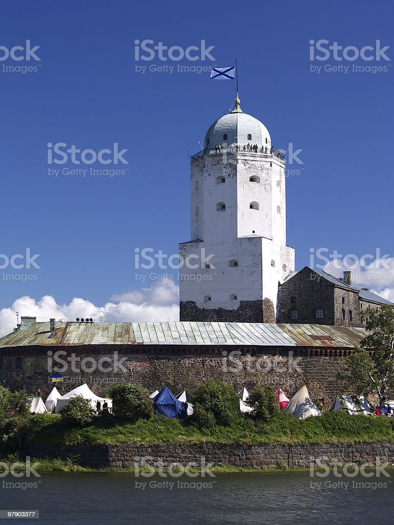 Tower of castle royalty-free stock photo