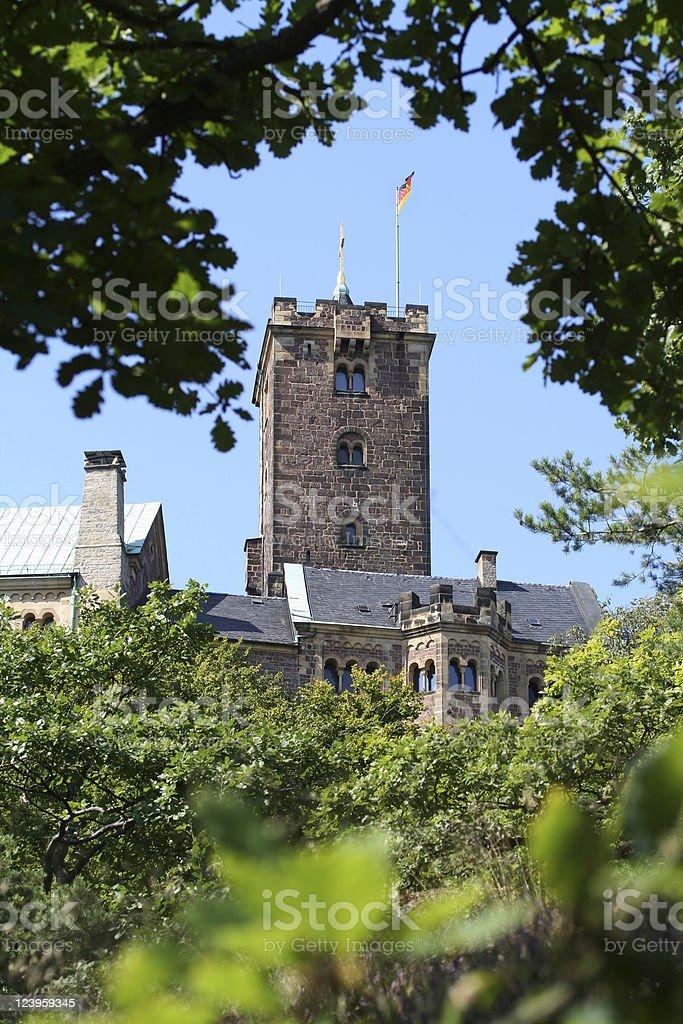 Tower of Castle 'Wartburg' stock photo
