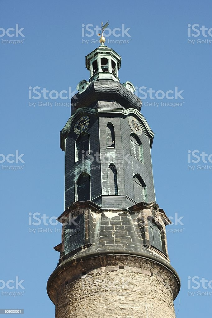 Tower of castle, Weimar stock photo