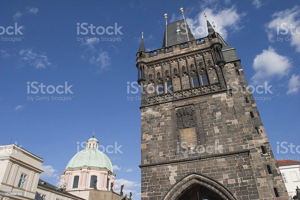 Tower of Charles Bridge, Prague royalty-free stock photo