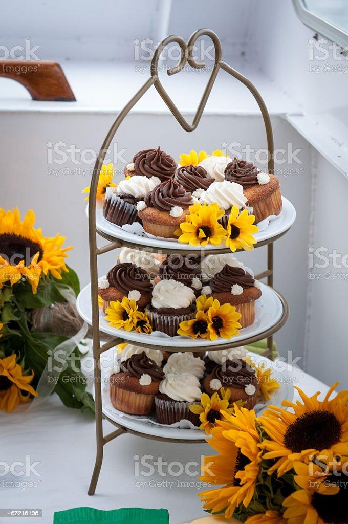 Turm von Cupcakes – Foto