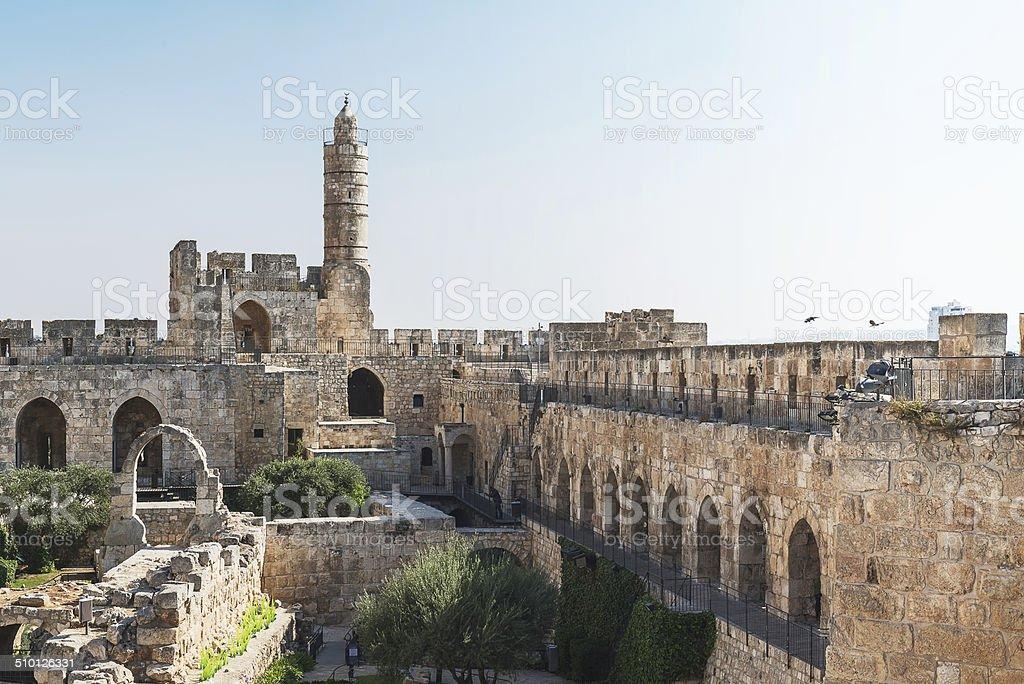 Tower of David at Israel stock photo