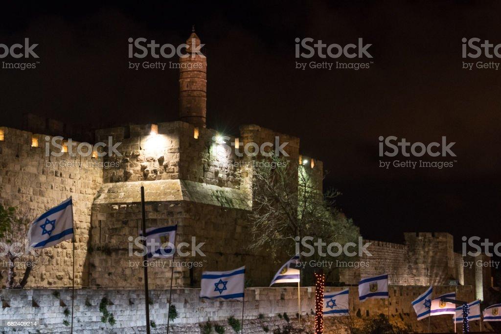 Tower of David at night royalty-free stock photo