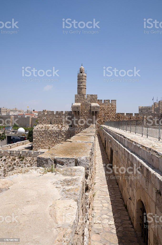 Tower of David, Jerusalem old city royalty-free stock photo