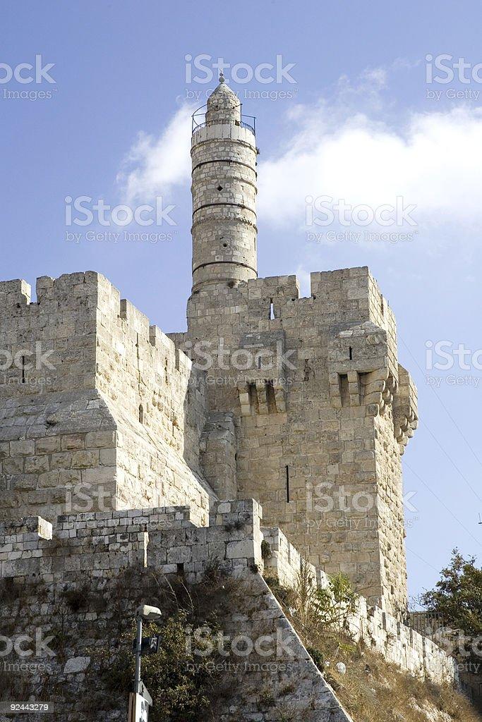 Tower of David stock photo