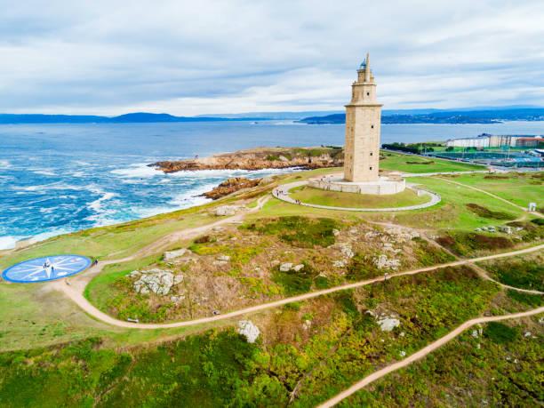 Tower of Hercules Torre in A Coruna stock photo