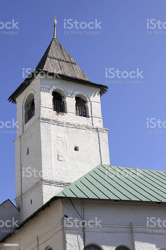Tower of Holy Transfiguration Monastery stock photo