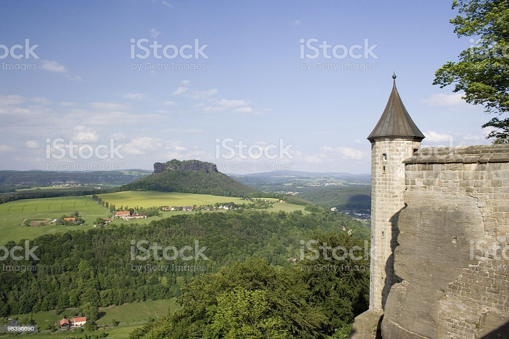 Tower of Königstein Fortress royalty-free stock photo