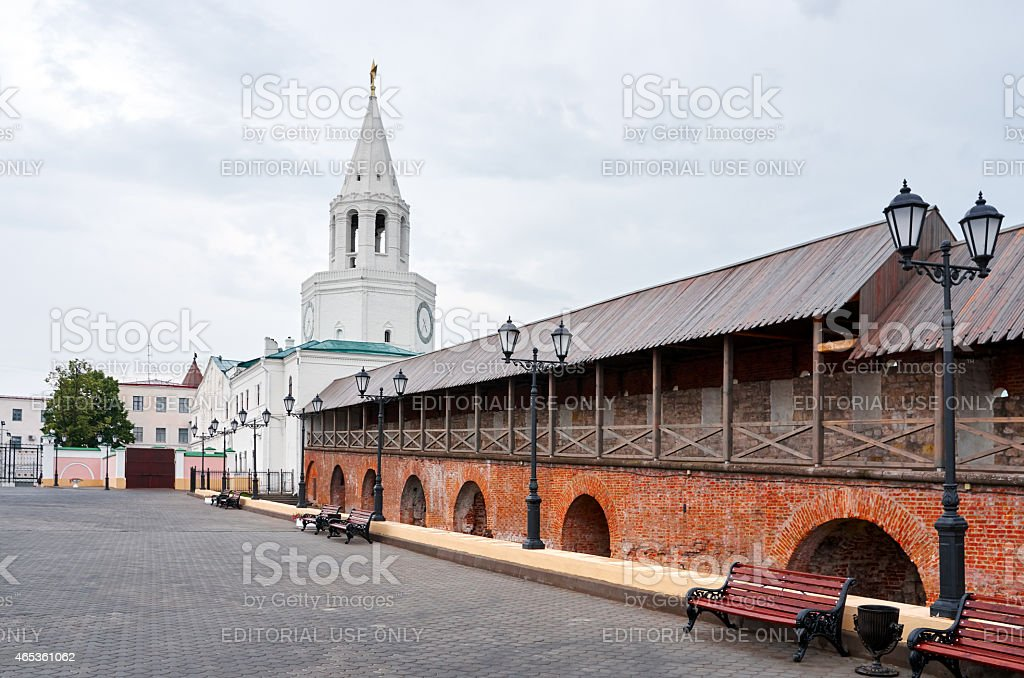Tower of Kremlin in Kazan stock photo