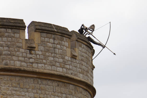Tower of London archer stock photo