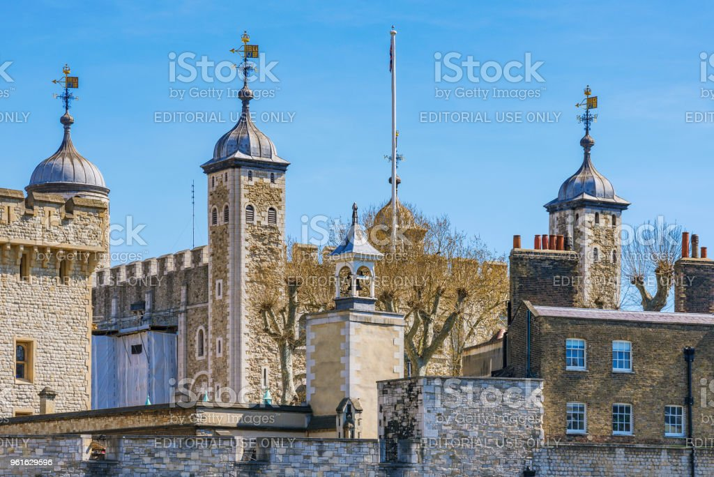 Tower of London architecture stock photo
