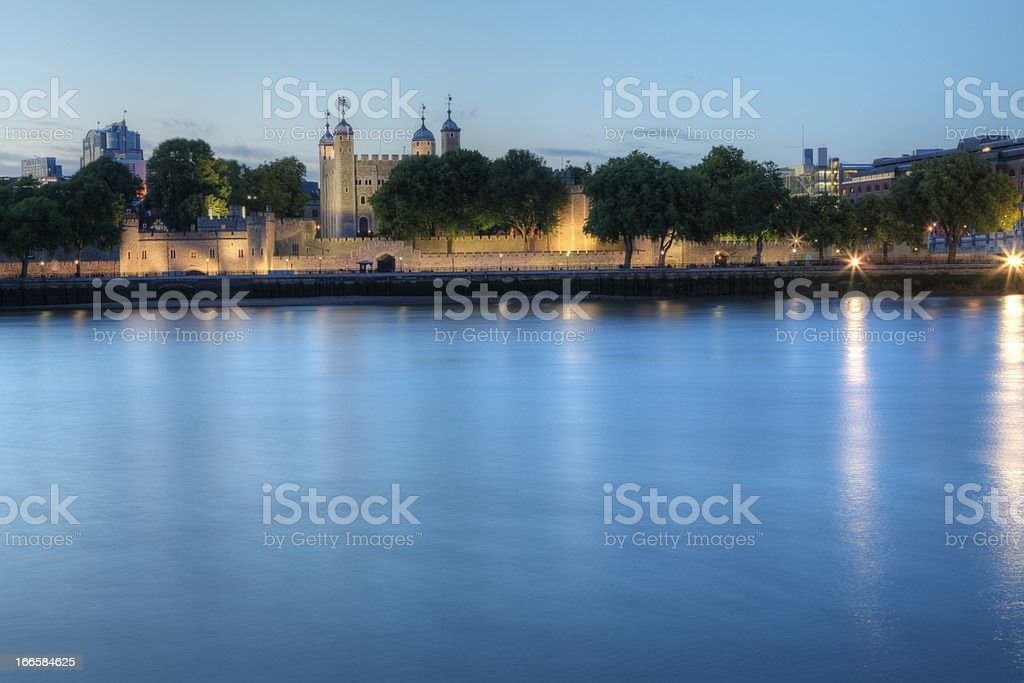 Tower of london at dusk HDR royalty-free stock photo